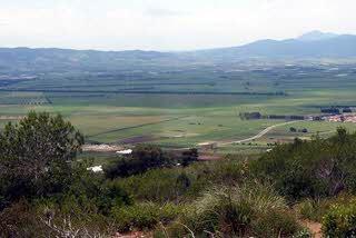 La plaine de la Mitidja dans l'arrière pays algérois